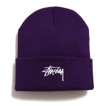 FA19 Stock Cuff Beanie Purple