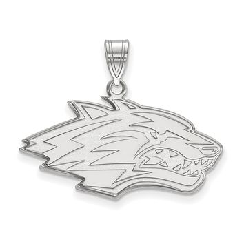 NCAA Sterling Silver U. of New Mexico Large Pendant