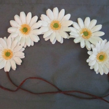 One of a Kind Daisy Flower Crown