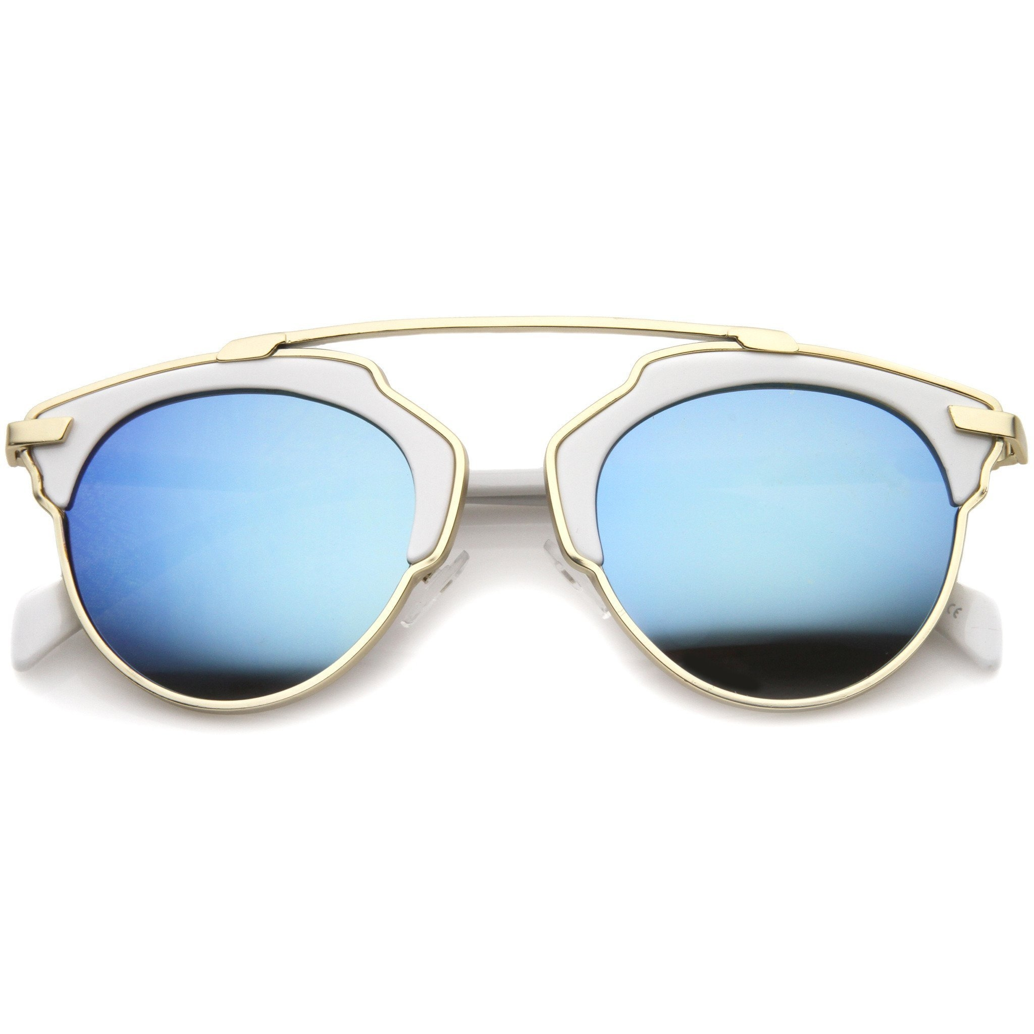 9bcc86970f Modern Fashion 2 Tone Mirrored Lens from zeroUV
