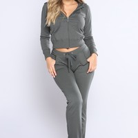 Easy Breezy Lounge Set - Olive
