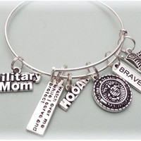 Marine Bracelet, Military Mom Gift, Personalized Gift, Gift for Marine, Military Tribute Gift, Gift Ideas for Mom, Mother's Gifts