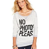 Dolled Up Juniors Top, Long Sleeve Graphic High-Low - Juniors Tops - Macy's