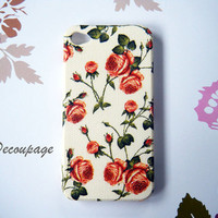 Orange Roses - Case for iPhone 4 , Case for iPhone 4s , iPhone 3 , 3gs case , Samsung galaxy S2 , Floral iPhone Case