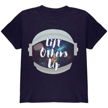 ESBGQ9 Anti-Bullying Astronaut Space Lift Others Up Youth T Shirt