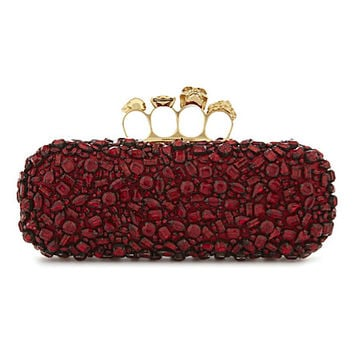 ALEXANDER MCQUEEN Jewel cluster knuckle clutch