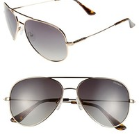 Women's Polaroid Eyewear 59mm Polarized Aviator Sunglasses