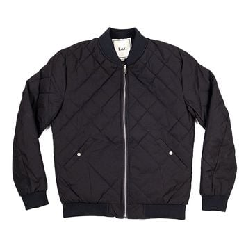 The Arbor Quilted Bomber in Black