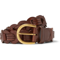 Tom Ford - 3cm Brown Woven Polished-Leather Belt | MR PORTER