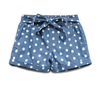 Darling Dots Chambray Shorts (Kids)