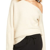 Treasure & Bond One-Shoulder Ribbed Sweater | Nordstrom