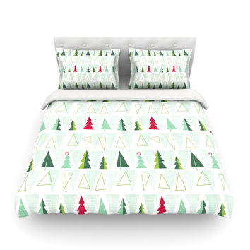 """Allison Beilke """"Pining for Christmas"""" Christmas Holiday Featherweight Duvet Cover"""