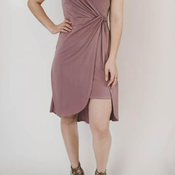 Gathered Dress - Mauve