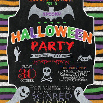 Halloween  Party Invitation, Halloween Invites , Kids Halloween Party, Halloween party, Halloween kids