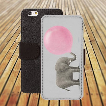 iphone 5 5s case elephant blowing balloons iphone 4/4s iPhone 6 6 Plus iphone 5C Wallet Case,iPhone 5 Case,Cover,Cases colorful pattern L331