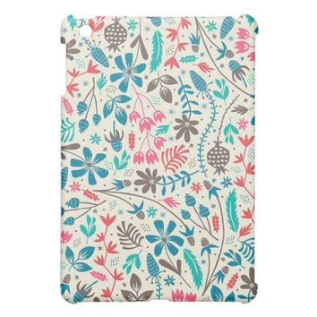 Retro Floral Pattern iPad Mini Case