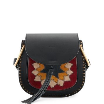 CHLOE Small suede patchwork hudson bag