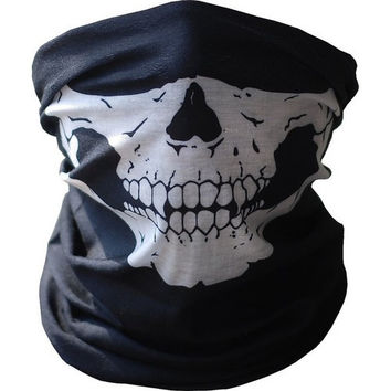 Skull Tubular Mask Motorcycle Scarf