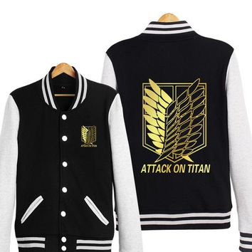 Attack On Titan Shingeki No Kyojin Scout Legion Golden Baseball Cosplay Jacket Hoodie