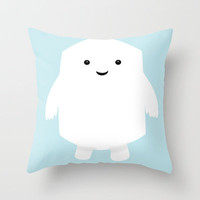 Doctor Who Adipose Throw Pillow by Apricot | Society6