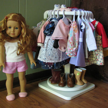 "Rotating Clothing Rack for American Girl or other 18"" doll - APRIL SHIPPING"