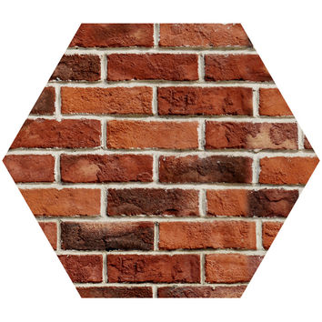 Red Brick Hex Wall Decal