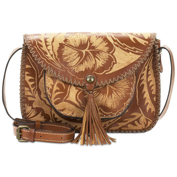 Patricia Nash Cuban Carved Beaumont Flap Small Crossbody | macys.com