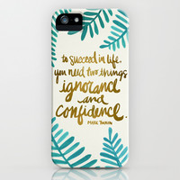 Ignorance & Confidence #1 iPhone & iPod Case by Cat Coquillette