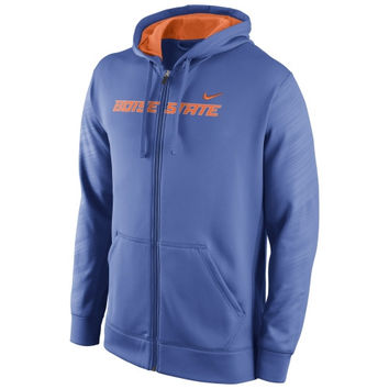 Boise State Broncos Nike Warp KO Full Zip Performance Hoodie - Royal Blue