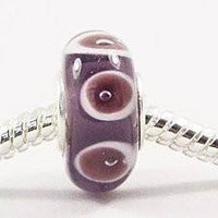 European charm glass bead SET OF TWO