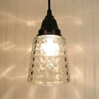 BoothBay Port Clear Square Holophane PENDANT by LampGoods on Etsy