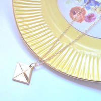 Gold Love Letter necklace - gold filled chain