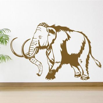 Wall Vinyl Decal Sticker Bedroom Decal Nursery Kids Baby Elephant Mammoth  z656