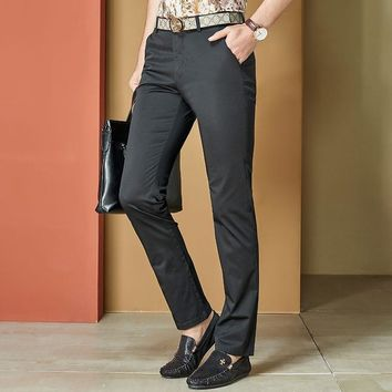 Summer Men Casual Pants Slim Stretch Trousers [6541361795]