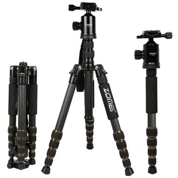 Zomei Lightweight Professional Travel Camera Tripod Portable Monopod Carbon Filter Adjustable With Ball Head For DSLR Camera