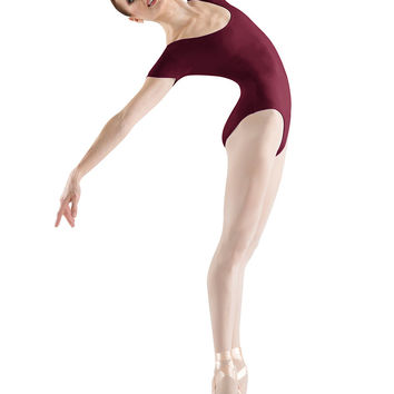 Adult Basic Short Sleeve Leotard (Burgundy) L5402