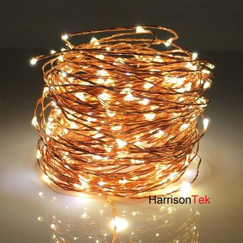20M 66ft LED fairy Starry String Lights, Decor Rope Lights For Seasonal Decorative Christmas Holiday, Wedding, Parties