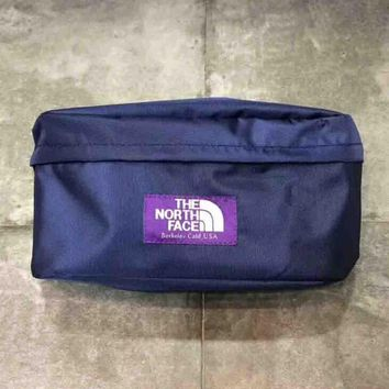 THE NORTH FACE Fashion new letter purple women and men camouflage shoulder messenger canvas bag Blue