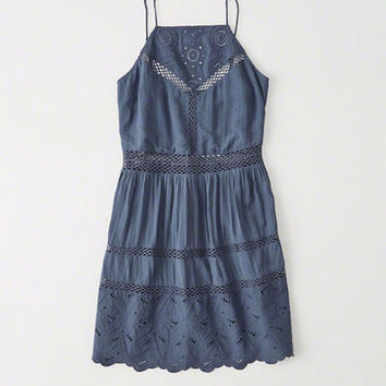 Womens High Neck Lace Dress | Womens New Arrivals | Abercrombie.com