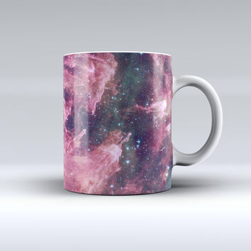 The Vibrant Deep Space ink-Fuzed Ceramic Coffee Mug