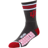Indiana Hoosiers Deuce Crew 504 Performance Socks – Gray