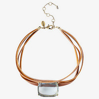 Faux Leather Stone Choker from EXPRESS