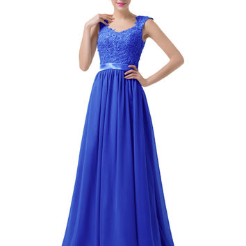 Royal Blue Prom Dress Under $50 Vestidos De Baile Sexy Backless Long Chiffon Grey Purple Ombre Dress Sequin Lace Prom Gowns - BRIDESMAID DRESSES BRIDAL GOWNS PROM