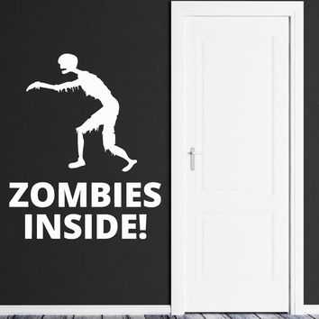 Vinyl Wall Decal Zombie Inside Teen Room Horror Dead Stickers Unique Gift (ig4059)