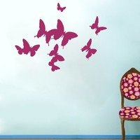 Wall Decals Butterflys Decal Vinyl Sticker Nursery Family Bedroom Home Decor Interior Design Art Murals EG40