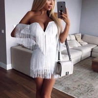Norton White Tassel Dress