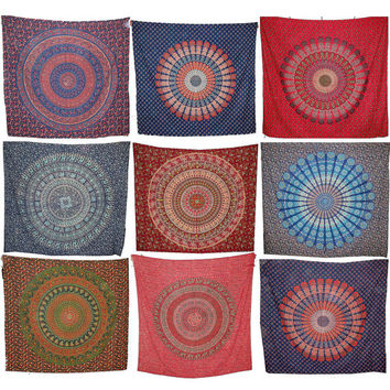 10pc wholesale Elephant Mandala Tapestry, Hippie Indian Tapestry, Indian Mandala Tapestry Mandala Bed Cover, Bohemian Wall Hanging Bedspread