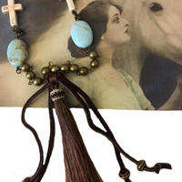 Handcrafted Horse Hair Tassel Necklace