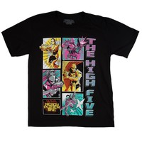 Ready Player One High Five Group T-Shirt, Comic Strip Style for Gamers