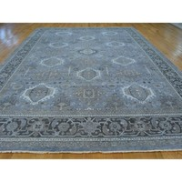 Oxidized Wool Karajeh Stone Wash Oriental Handmade Rug (9'9 x 14'5) | Overstock.com Shopping - The Best Deals on One Of A Kind Rugs